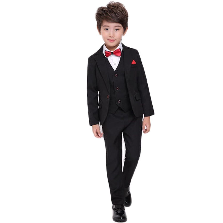 topmodelss 子供スーツ フォーマルスーツ 男の子 長袖 上質フォーマル ジャケット ベスト ズボン3点セット 受験 面接 冠婚葬祭 七五三