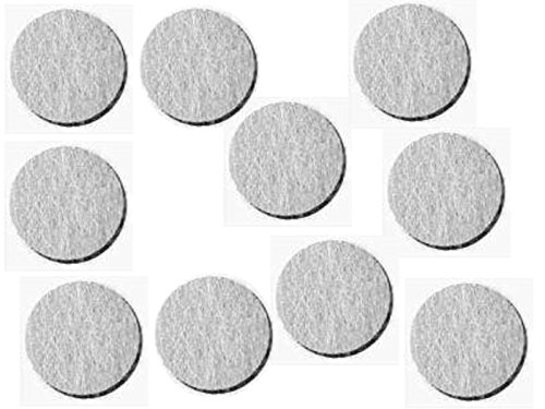 Elektrodenbezüge aus Wollfilz, weiß, 1mm stark Ø 26mm, 100 St.