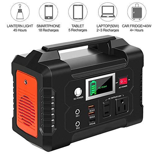 200 W zonnegenerator voor draagbare krachtinstallaties met stopcontact, 2 gelijkstroomaansluitingen, 3 USB-poorten voor CPAP outdoor-avontuur uitstapjes in noodgevallen op de camping.