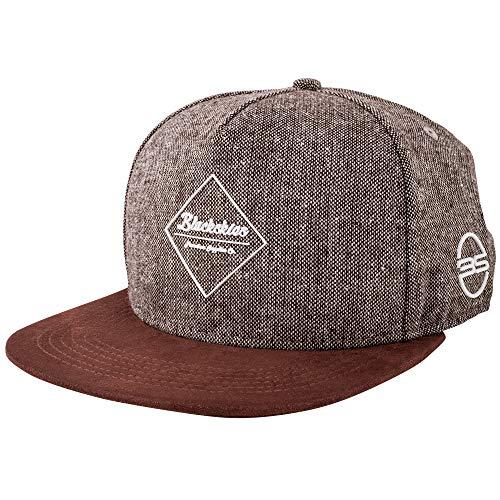 Blackskies Snapback Cap Schwarz Braun Grau Wolle Schirm Unisex Premium Baseball Mütze Kappe, Baal, Einheitsgröße