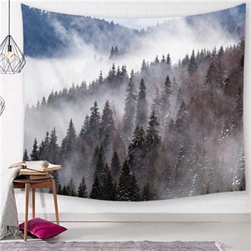 Vic Gray Mountain Scene Wall Tapestry Polyester Decorative Dorm Bedroom Art Yoga Mat Beach Picnic Blanket Carpet Home Decor Large Tapestries