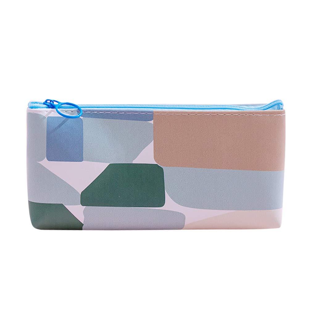 Qiuday – Estuche para el colegio o el colegio o el colegio, bolsos para lápices, papeles de carta, neceser para cosméticos, para viajes, pequeño estuche de maquillaje, color c 18.1x8.7cm: Amazon.es: Oficina