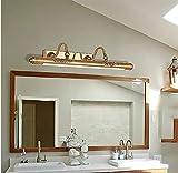 H.aetn Luces de Espejo LED Europeas Americanas Aparador de baño Retro a Prueba de Herrumbre Gabinete de Espejo Accesorios de luz Cálido (Tamaño: L)