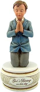First Communion Kneeling Boyフィギュアロザリオボックス、6インチ