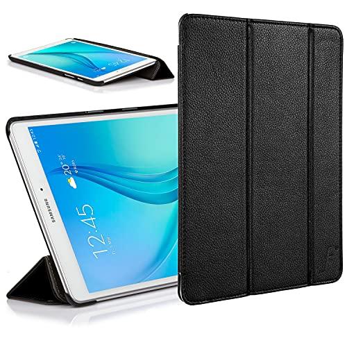 Forefront Cases Cover per Samsung Galaxy Tab E 9.6 T560 (2015) Custodia Caso Case Cover Pieghevole - Sottile Leggero e Protezione Dispositivo Completa - Nero