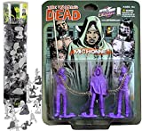 Dead Battle Michonne Exclusive Chained Zombie Pets from Walking Dead Show Bundled with Bucket of Zombies Walking Dead Army Mini Action Figures Creep Pack 2 Items