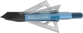 Muzzy Bowhunting Broadheads, 4 Blade, 1 Inch Cutting Diameter 90 or 100 Grain, 6 Pack