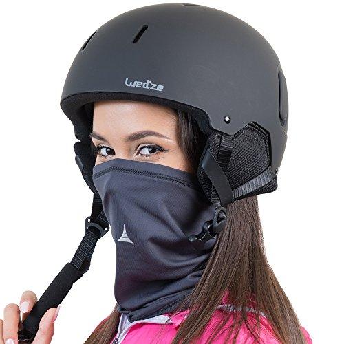 French Fitness Revolution Fleece Neck Warmer [Solids] / Reversible Neck Gaiter Tube, Ear Warmer Headband, Mask & Beanie. Ultimate Thermal Retention, Versatility & Style. Performance Comfort Fleece