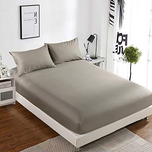 haiba Sábana bajera ajustable para cama de matrimonio, funda extra profunda, funda de colchón de polialgodón de 135 x 200 cm+26