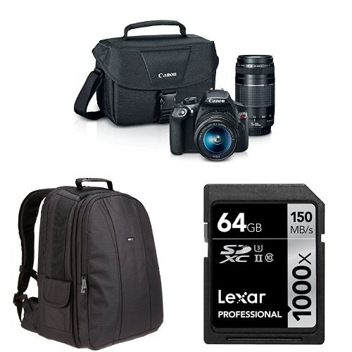 Canon EOS Rebel T6 Digital SLR Camera Kit with EF-S 18-55mm and EF...