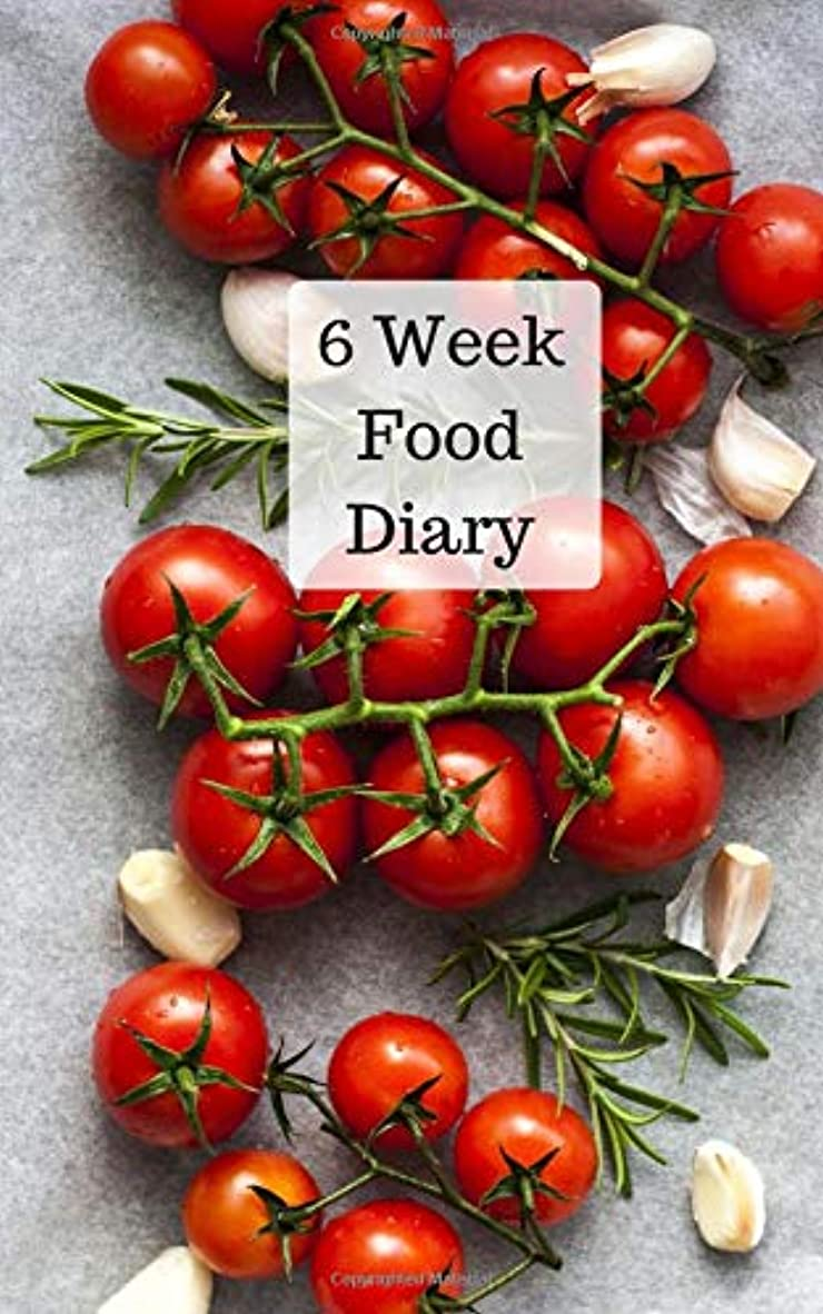 適応的ピストン損失6 Week Food Diary: Weekly meal planner and daily food journal with motivational quotes to help you reach your healthy living goals