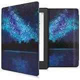 kwmobile Funda Compatible con Kobo Aura H2O Edition 2 - Carcasa para e-Reader de Piel sintética - Azul/Negro