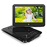 NAVISKAUTO 10.1' Portable Blu Ray Player with Rechargeable Battery Support HDMI Output, 1080P Video, Sync Screen, AV Out & in, Dolby Audio, Last Memory, USB SD