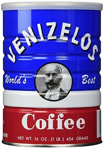 Venizelos Greek Style Ground Coffee, 454g/1lb (4-Pack)