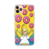 BigBangStore Compatible for iPhone 11 Pro Case Simpsons Homer Victory Donuts Lover American Animated Series Clear Phone Cases