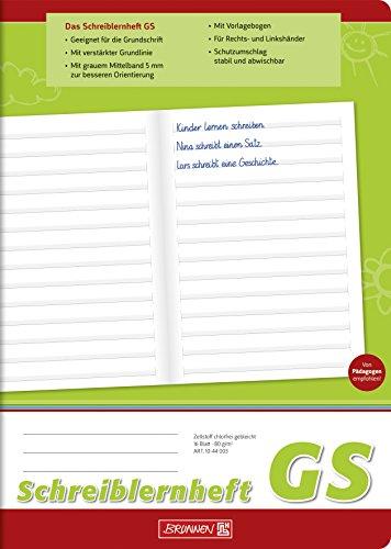 Brunnen 1044003 Schreiblernheft (GS, A4, 16 Blatt, Lineatur GS)