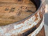 Temesso Stehtisch Tisch aus gebrauchtem Holzfass Weinfass, Fass, Barrique Tisch aus Eiche Holz rustikal 225 Liter (rustikal geölt) - 2