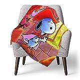 IUBBKI Personalisierte Kinder Fleece Decke Custom, Snoopy (73), Superweiche Babydecke für Kinderbett Couch Stuhl Wohnzimmer