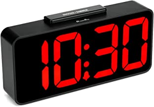 DreamSky Auto Time Set Alarm Clock with USB Port for Charging, Snooze, Dimmer, Extra..