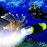 Bluefire Torcia Subacquea, 1200 Lumens XM-L2 LED Impermeabile Portatile Immersioni Torcia Elettrica con Laccetto e Cordino