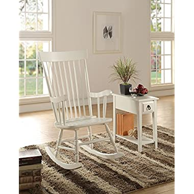 ACME Furniture 59298 Arlo Rocking Chair, White