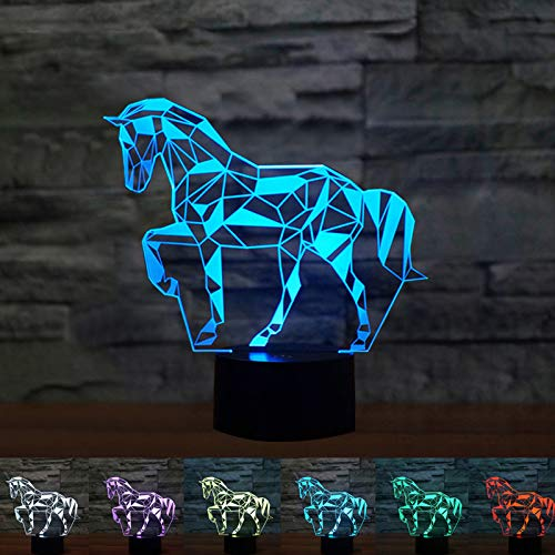 Coolzon 3D Led Lamparas de Mesilla de Noche luz Noche Infant