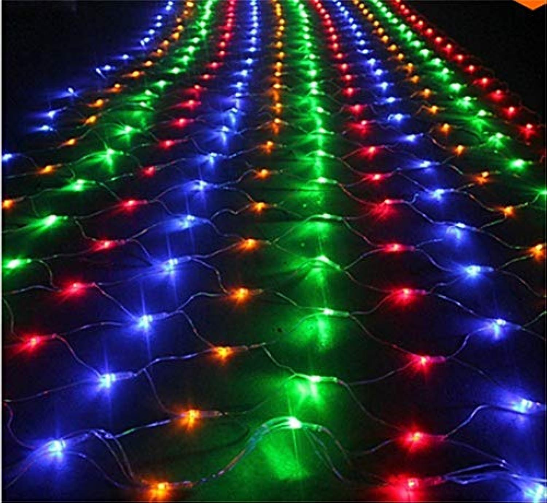 DROHE-Q Fee Netz Beleuchtung Innen String 8 Modi Weihnachten Baum Hochzeit Party Schlafzimmer Wand Dekoration Mehrfarbig
