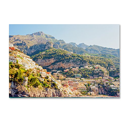 Positano Amalfi Coast by Ariane Moshayedi, 12x19-Inch Canvas Wall Art