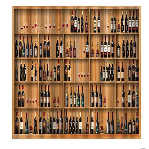 TO-WWENXINHZ Cortina De Vino con Estampado De Rayas Decorativas para Varias Ocasiones (Color : A, Size : 170 * 200cm)