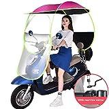 YFGlgy Toldo de la Motocicleta Moto Techo Motor Bicicleta Sombrilla Sombra Tienda de campaña Paraguas Parabrisas Cubierta de Lluvia Impermeable, 280 * 110 cm,1