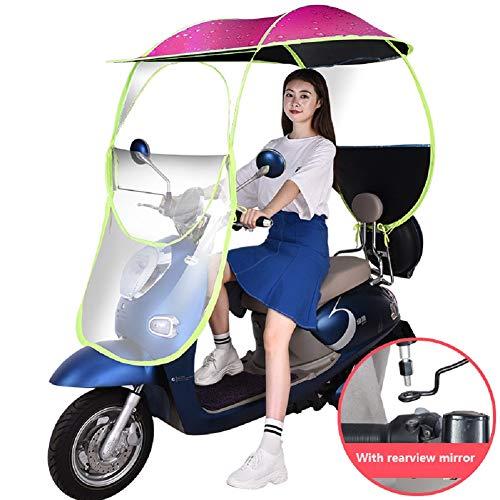 Fiets elektrische zonnescherm regenhoes, universele auto motor scooter paraplu mobiliteit zon waterdichte paraplu (voor type met spiegel)
