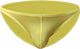 Jiyaru Mens Underwears Pouch Bikini Briefs Sexy Triangle Shorts Low Rise Thongs Underpants
