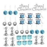 Happyyami Ornamenti per alberi di natale con jingle bell decorazioni pendenti natalizie re...