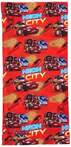 Buff Original Serviette Multifonction pour Enfant Cars Taille Unique Rouge - Neon Bolt