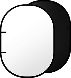 Neewer Negro/Blanco Doble Cara Muselina Telón de Fondo - 200 x 150 Centímetros Fondo Redondo Plegable para Foto Estudio Vídeo de Fotografía con Estuche de Transporte