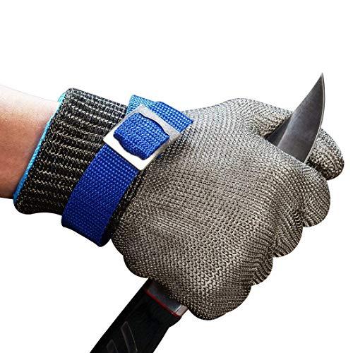 guanti macellaio ConPush Guanti Antitaglio Acciaio Inox Rete Metallica Guanto per cucina e macellai e pesca