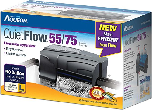 Aqueon QuietFlow LED PRO Aquarium Power 55/75 Filter (Fits up to 95 Gallon Tanks)