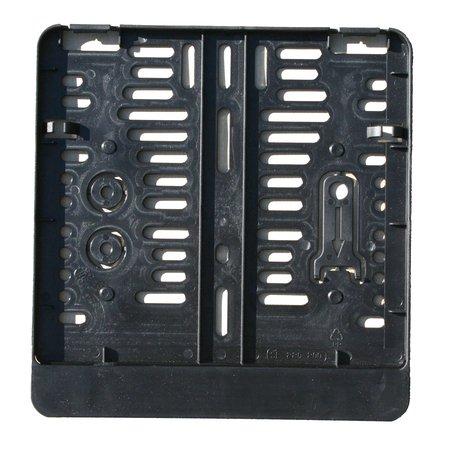 Unbekannt Kennzeichenhalter - Kennzeichenverstärker - Kennzeichenbefestigung aus Kunststoff für Motorrad, 220 x 200 mm, schwarz