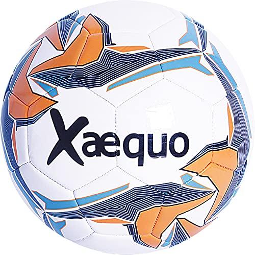 Ballon de Foot en Cuir Cousu, Ballon de Football Loisir...