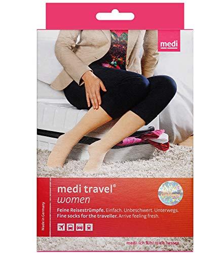 Medi Reisestrümpfe travel Women AD Kniestrümpfe normal KKL 1 schwarz geschlossene Fußspitze M