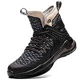 Blueskyli Zapatos de seguridad S3 para hombre y mujer, ligeros, transpirables, zapatos de seguridad, con puntera de acero, tallas 37-48, color Gris, talla 44 EU