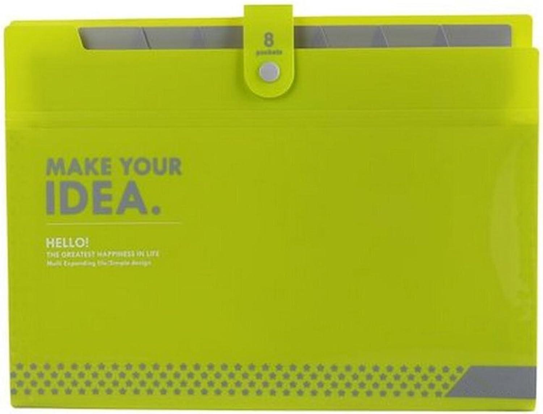 Liu Yu·Office Space, Büro Schreibwaren grün Acht-Layer A4 Ordner-Datei-Paket B07167N77H   Zuverlässige Qualität