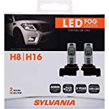 SYLVANIA - H8 LED Fog Light - Premium Quality Plug and Play LED Fog Lights, Bright White Light Output, Matches HID & LED Headlight Lighting Systems, Added Style & Performance (Contains 2 Bulbs)
