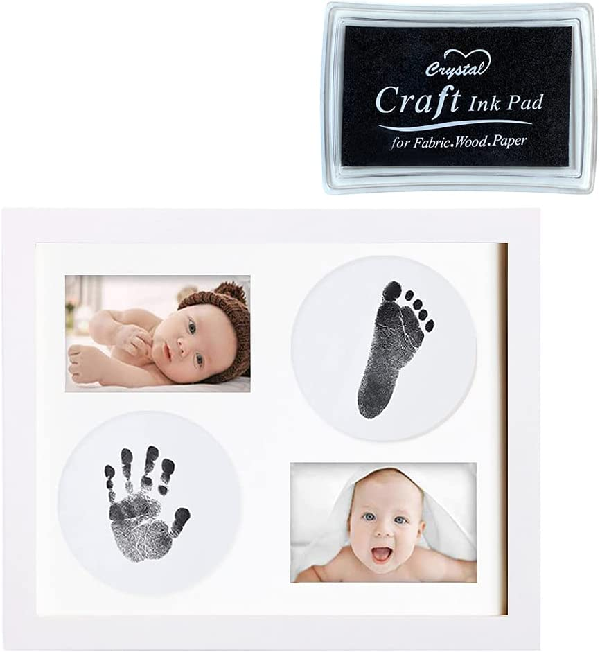 Gobesty Kit de Marco para Manos y Huellas de Bebé, Marco de la Foto de la Huella de la Mano del Bebé, Conjunto de la Huella del Bebé, Conjunto de la Huella del Bebé, Regalo del Bebé Recuerdos úNicos