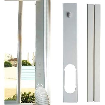deslizador de placa de sellado de ventana sello de ventana ajustable con kit de adaptador de ventana para aire acondicionado port/átil Acondicionador de aire para kit de deslizamiento de ventana
