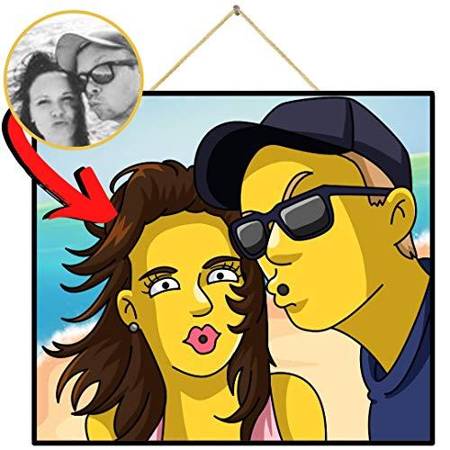 Einfachgelb Personalisiertes Bild wie die Simpsons (Digitales Produkt)