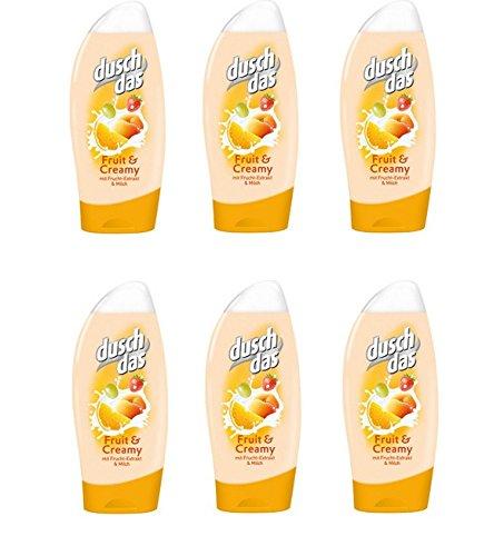 Duschdas Duschgel 250ml Fruit&Creamy , 6er Pack (6 x 250 ml)