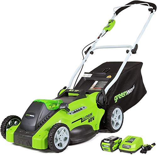Greenworks G-MAX 40V 16'' Cordless Lawn Mower with 4Ah Battery - 25322 model