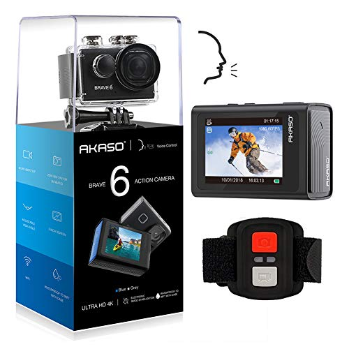 AKASO Brave 6 4K 20MP WiFi Action Camera Voice Control