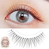 Dorisue 3D False Eyelashes Extensions 3 Black and Brown Mink Lashes Strip with Volume eyelashes pack for Women's Makeup Handmade Soft 4 lashes pack